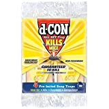 d-CON Wooden Mouse Snap Trap for Mouse, Pre-Baited and Non-Poisonous (Pack of 4)