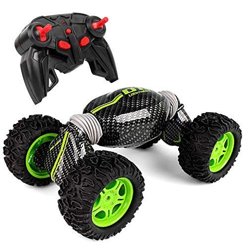 Mogicry Boy Remote Control Car Off-Road Vehicle Collision Alta Velocidad Four-Wheel Drive Multifunción Double-Sided Deformation Escalada Car Wireless Charging Electric Toy Toy para niños 3+