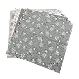 TOPINCN Tela de algodón Surtido Cuadrados precortados Suite Cuartos Paquete DIY Costura Scrapbooking Acolchar Set 7pcs 50 * 50 cm (Gris)