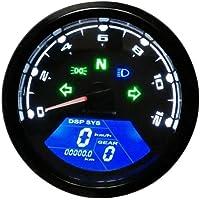 KANGJIABAOBAO Velocímetro de la Motocicleta 12000rpm LCD Digital