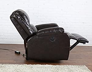 Bonded Leather Power Electric Recliner Living Room Chair Kitchen Dining