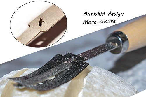 Aeaker Premium Hand Crafted Bread Lame with 5 Blades Included - Best Dough Scoring Tool with Safe Storage Box - Perfect Baking Gift by aeaker (Image #2)