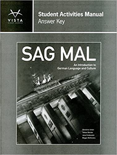 Sag mal answer key for student activities manual vhl 9781617679520 sag mal answer key for student activities manual vhl 9781617679520 amazon books fandeluxe Images