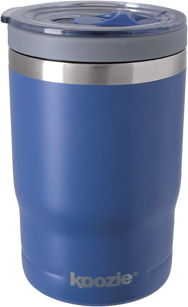 Koozie Stainless Steel Double Wall Vacuum Insulated Triple Can Cooler, Bottle or Tumbler - 12 oz. (Matte Galaxy Blue)