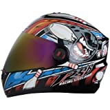 Steelbird Air Sba-1 Pin Full Face Helmet Mat Black/Blue With Gold Visor 600 Mm