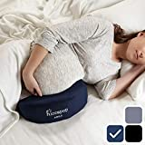 hiccapop Pregnancy Pillow Wedge for Maternity   Memory Foam Pillows Support Body, Belly, Back, Knees (Navy Blue)