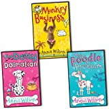 anna wilson 3 books collection pack set rrp ??17 97 monkey business the dotty dalmatian the poodle problem