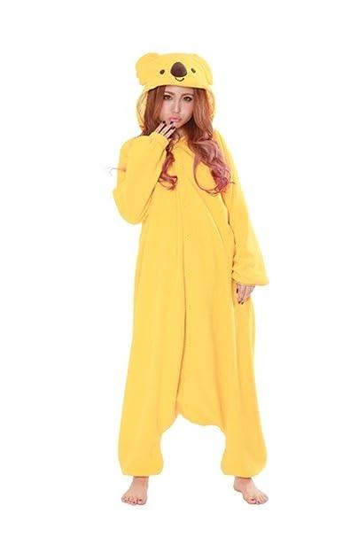 wotogold - Pijama de una pieza - para mujer - yellow koala