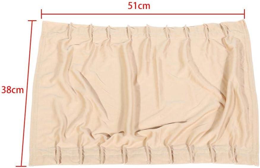 2 x 50s Car Sun Shade Window Curtain Adjustable SunShade Drape Visor Valance Curtain For Most Of Cars SUV With Height 38-42cm//14.96Inch Gray 16.54Inch