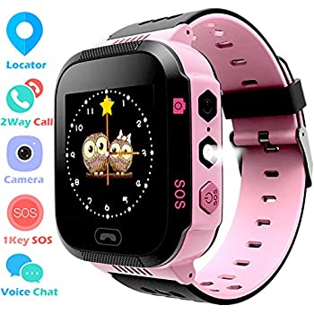 Kids GPS Tracker Watch for Boys Girls - Smart Wrist Watch with GPS Location SOS Digital Watch Camera Flashlight Games for Children Compatible with ...