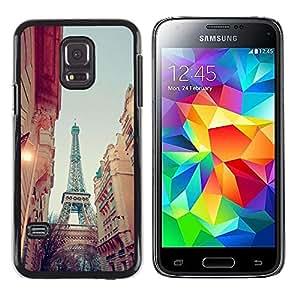 Be Good Phone Accessory // Dura Cáscara cubierta Protectora Caso Carcasa Funda de Protección para Samsung Galaxy S5 Mini, SM-G800, NOT S5 REGULAR! // Eiffel Street View Sky Evening