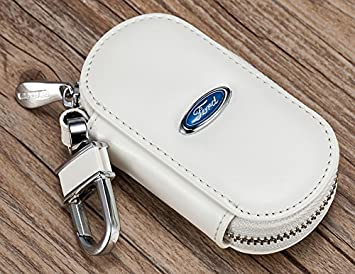 Piel de Vaca elegante coche llaves funda Keybag llavero ...