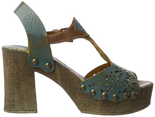 Bunker Soul, Women's Wedge Heel Sandals Blue (Navy)