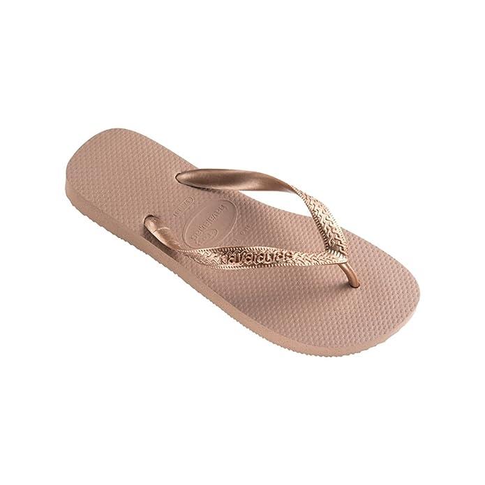 d03976789a43 Havaianas Top Metallic Grey Silver Flip Flops - UK 6 7 - BR 39 40 - EU 41 42   Amazon.co.uk  Shoes   Bags
