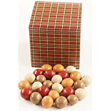 Scott's Cakes Fall Harvest Gourmet Chocolate Malt Balls in a 1 Pound Square Plaid Box