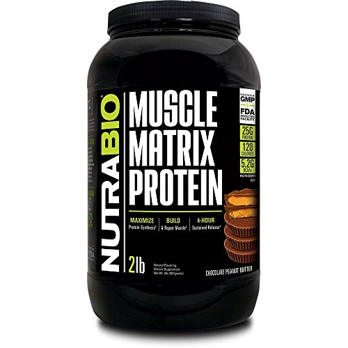 NutraBio Muscle Matrix - Whey Protein Blend (Chocolate Peanut Butter, 2 Pounds)
