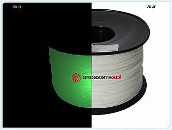 Filamento 3d fosforescente verde ABS 3.00 mm inalámbrico 3d ...