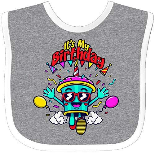 Inktastic - It's My Birthday Cupcake Baby Bib Heather/White 31cb4