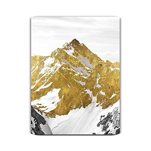 honeycherry 3Pcs Golden Snow Mountain Abstract Wall Art Print Canvas Painting Decorative Picture for Home Decor Poster,60X80Cm No Frame,Ot283-2