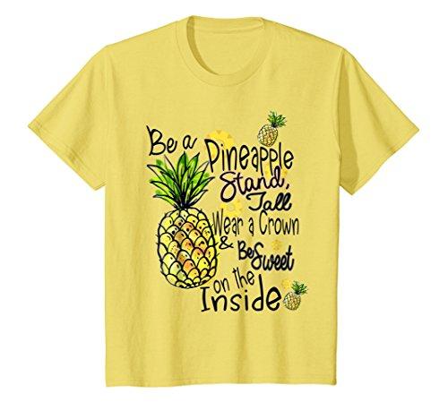 Kids Fun Be A Pineapple T-Shirt Sweet Gift Tee 8 Lemon