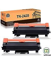 FITU WORK TN2420 TN2410 (avec Puce) Cartouche Toner Compatible pour Brother MFC-L2710DW MFC-L2730DW MFC-L2750DW DCP-L2510D DCP-L2530DW DCP-L2550DN HL-L2310D HL-L2350DW HL-L2370DN HL-L2375DW