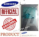 Samsung Galaxy ALPHA S VIEW Flip Cover Black