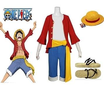 One Piece Monkey D. Luffy Cosplay traje Ver 2st combinación 777e83b3931