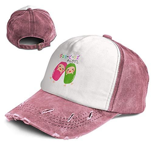 Fashion Vintage Hat Love Jelly Beans Adjustable Dad Hat Baseball Cowboy Cap Dark Red
