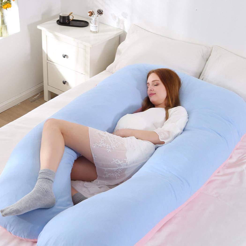 Almohada de Embarazo en Forma de U Jintes Coj/ín de Maternidad en Forma de U de Cuerpo Completo Almohadas est/ándar