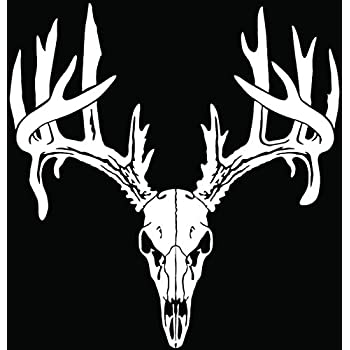 Amazoncom Deer Buck Antlers Skull Hunting Car Truck Window - Rear window hunting decals for trucksamazoncom truck suv whitetail deer hunting rear window graphic