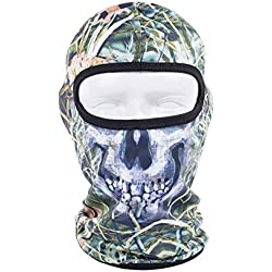 Brave Tour Outdoor Ski Mask Skull Mask Cycling Neck Warmer Mask (Green-65)