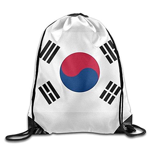 Mochila de viaje con cordón para gimnasio, diseño de la bandera de Corea del Sur