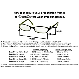 Fit Over Sunglasses by LensCovers - Fits over Prescription Glasses for Men and Women Small (Brown)