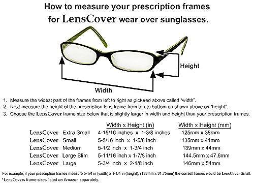 18e7966181 LensCovers Sunglasses Wear Over Prescription Glasses Small Gray in Dubai -  UAE