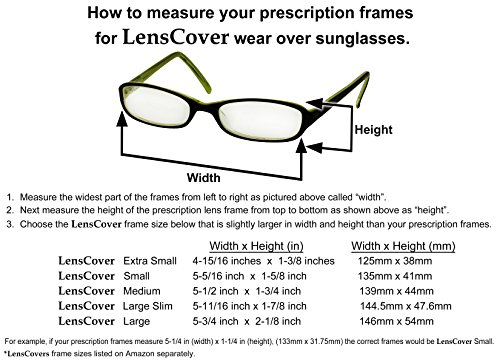 LensCovers Sunglasses Wear Over Prescription Glasses Small - shadyglasses.us