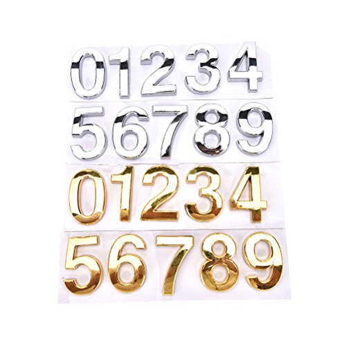 1 Pcs House Hotel Door Address Plaque Number Digits Sticker Plate Sign House by Crqes