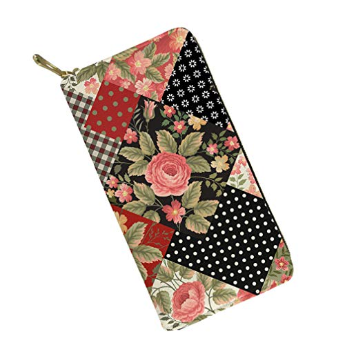 Mumeson Boho Style Women Travel Wallet Long Coin Purse Clutch Evening Bag Floral Square