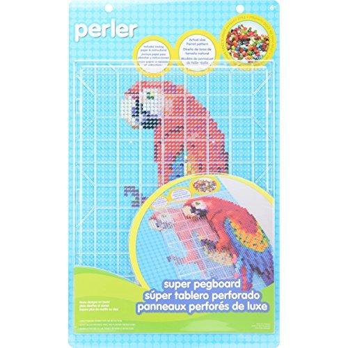 Perler Super Pegboard 1/Pkg-Rectangle Clear by Perler