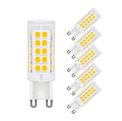 G9 Bombilla de LED de 5W, 330lm, Blanca Cálida 3000 K, Recambio de