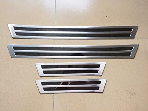 Seuil de plaque de seuil de porte 4 pcs ext/érieur en acier inoxydable pour Accessoire de voiture MZX5