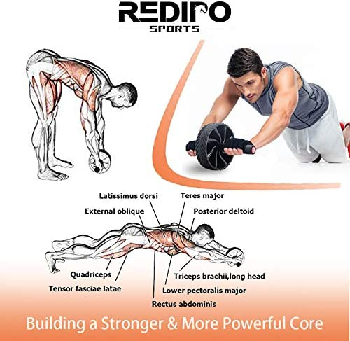 Redipo Ab Roller Wheel - Home Abdominal Exercise Equipment Core Workout - Ab Exercise Equipment as Abdominal Muscle Toner - Abs Roller Ab Trainer 7