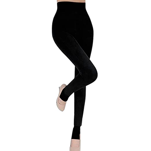 412b313c38fe4 Fashion Story Fall Winter Thick Warm Fleece Lined Thermal Stretchy Leggings  Pants (Black)