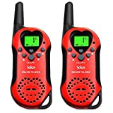 Sokos Walkie Talkies for Kids, 22 Channel Child Walkie Talkies 2 Way Radio 3 Miles (up to 5Miles) FRS Handheld Walkie Talkie for Kids (Pair) (Pink1)