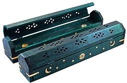 1 Celestial Coffin Incense Burner - Green - 12 by Burnies