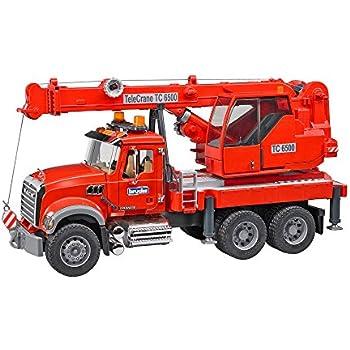 Includes 16-pk Energizer Max AAA Batteries 02770 E92LP-16Bundle Bruder Man Fire Engine Crane Truck w// Light /& Sound