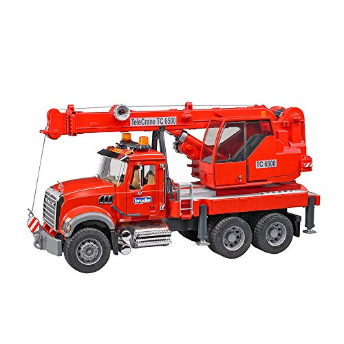 Bruder Mack Granite Crane Truck with Light & Sound Vehicle