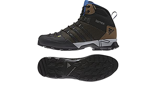 100% authentic e23be a2ff7 Amazon.com   adidas outdoor Men s Terrex Scope High GTX  Earth Black EQT  Blue Boot 6 D (M)   Hiking Boots