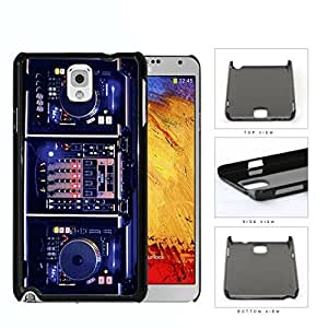 DJ Turntables With Glow Neon Lights Hard Plastic Snap On Cell Phone Case Samsung Galaxy Note 3 III N9000 N9002 N9005