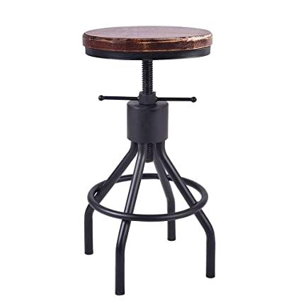 Amazon.com: Industrial Swivel Bar Stool Extra Tall Counter Coffee Kitchen Dining Chair American Style Height Adjustable 22-30inch: Kitchen & Dining