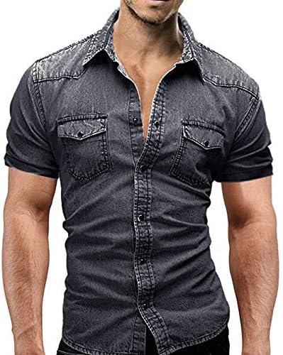 Oliviavan Camiseta De Manga Corta, Camisetas De Hombre De Verano Manga Corta de Autocultivo Casual Camisa Vaquera Botón Bolsillo Camisas Urbanas Hombre: Amazon.es: Ropa y accesorios